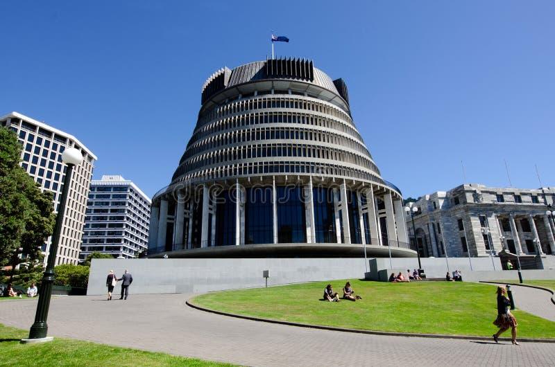 Le Parlement de la Nouvelle Zélande images libres de droits