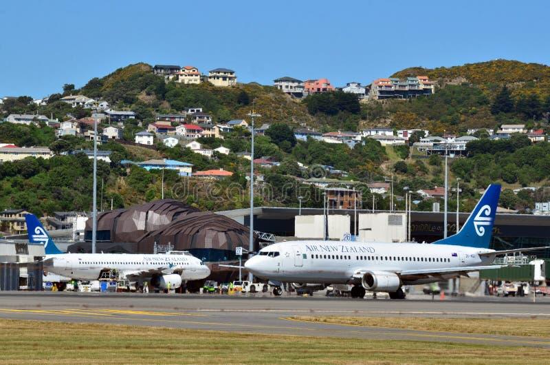 Wellington internationell flygplats royaltyfria bilder