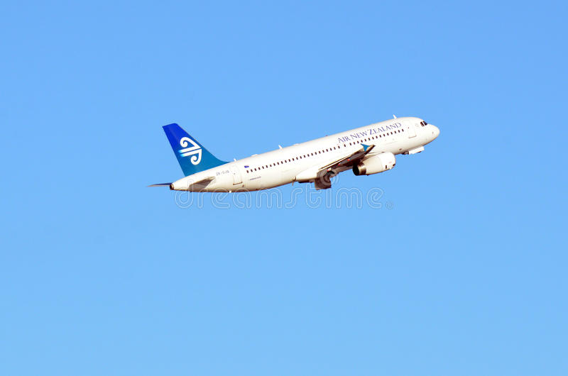 Air New Zealand plane royalty free stock image