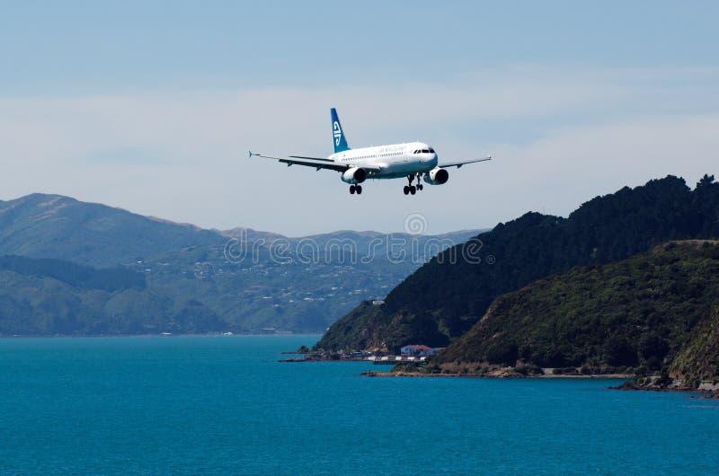 Lotniczy Nowa Zelandia samolot fotografia royalty free