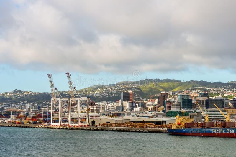 Wellington Harbor photographie stock