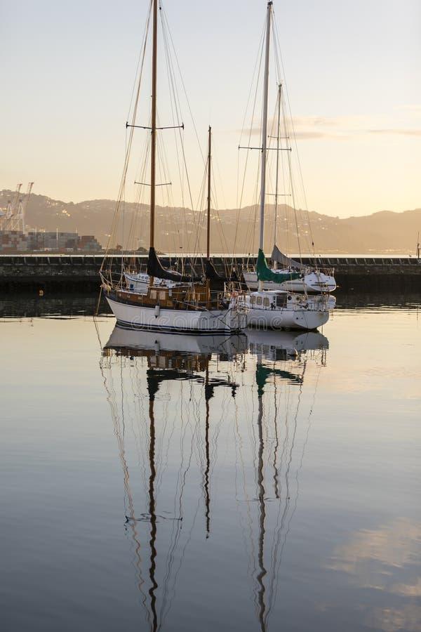 Wellington Harbour imagem de stock