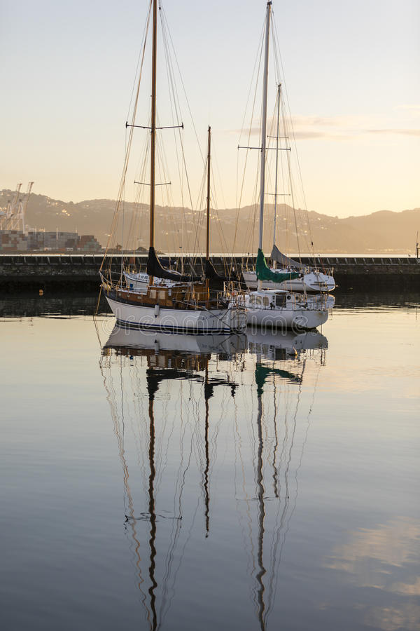Wellington Harbour immagine stock