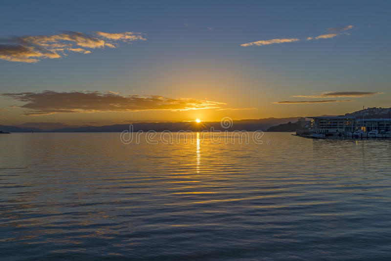 Wellington Harbour royalty-vrije stock foto