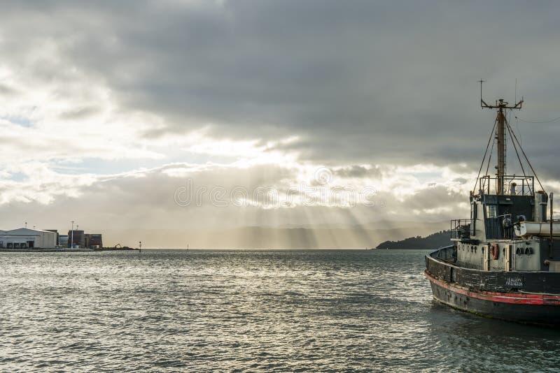 Wellington Harbour fotos de archivo