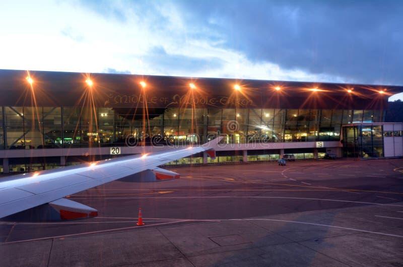 Wellington International Airport - Nieuw Zeeland royalty-vrije stock foto