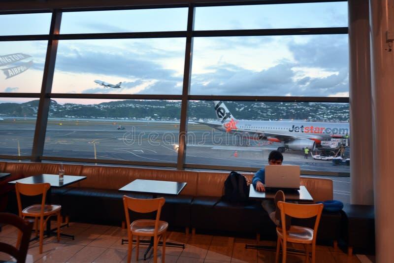 Wellington internationell flygplats fotografering för bildbyråer