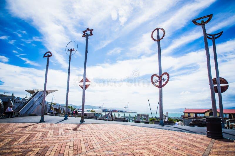 Wellington - la Nuova Zelanda fotografie stock