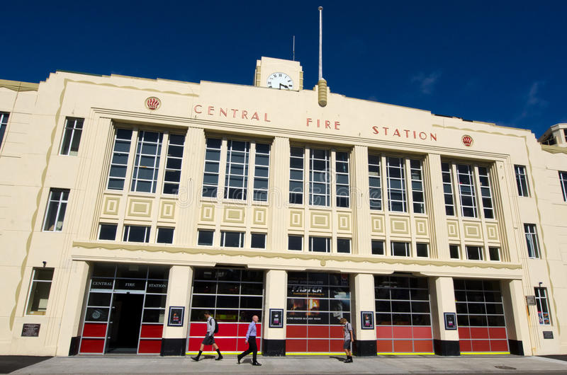 Wellington Fire Station. WELLINGTON - MARCH 01:Wellington fire station on March 01 2013.The 72-year-old Oriental Bay building must be strengthened by June 2020 royalty free stock photo