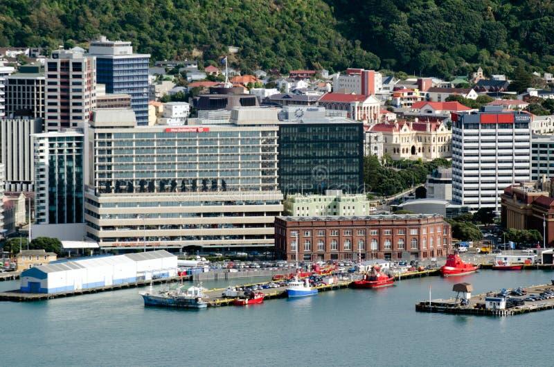 Paysage urbain de Wellington image libre de droits