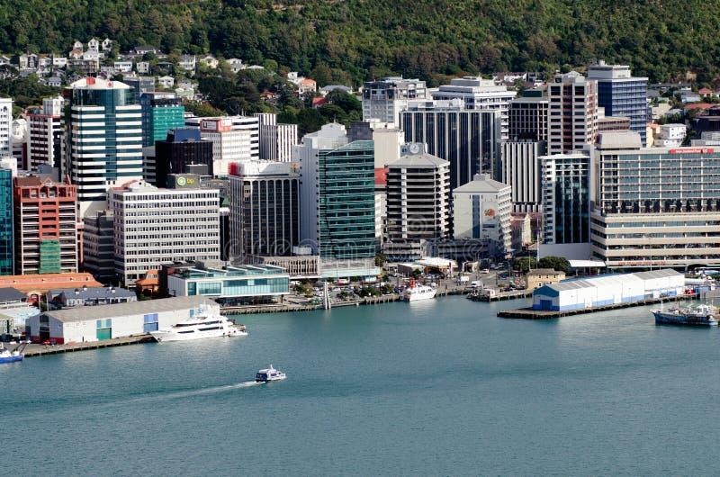 Paysage urbain de Wellington images libres de droits