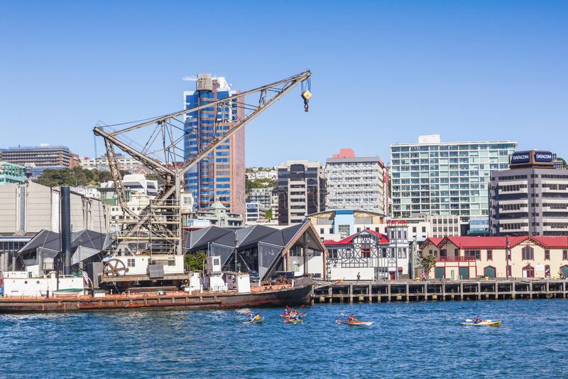 Wellington nabrzeże Nowa Zelandia obraz stock
