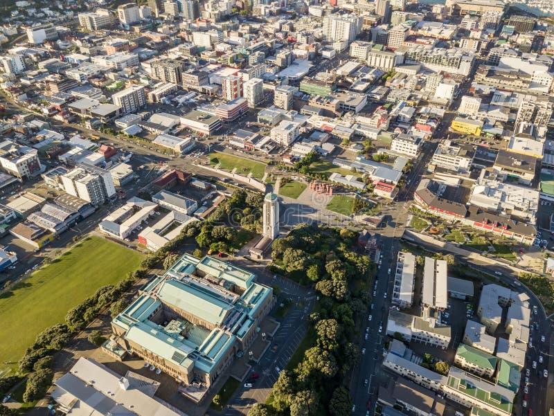 Wellington New Zealand Top View immagine stock