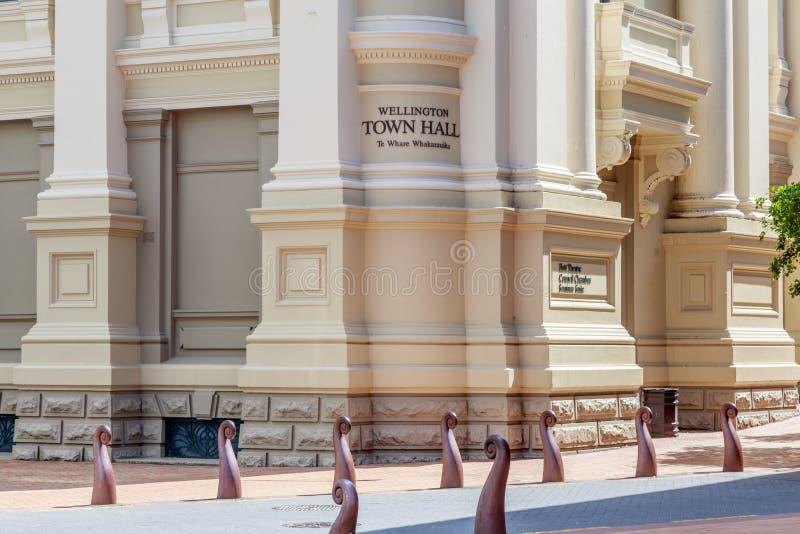Wellington, Nieuw Zeeland, 13 Februari 2016: Stadhuis stock fotografie
