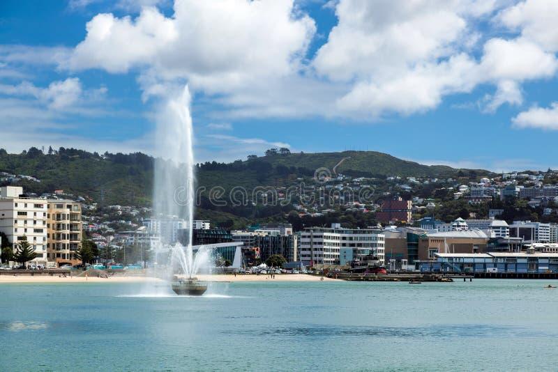 WELLINGTON, NIEUW ZEELAND - FEBRUARI 11: Waterkant in Wellington royalty-vrije stock foto's