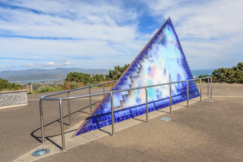 Wellington, Nieuw Zeeland 29 November, 2013 Zet Victoria Looko op stock fotografie