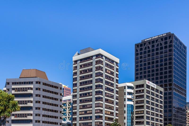 Wellington, Nouvelle-Zélande, le 11 février 2016 : Paysage urbain photographie stock libre de droits