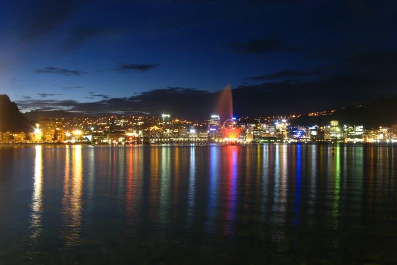 Wellington par nuit images libres de droits