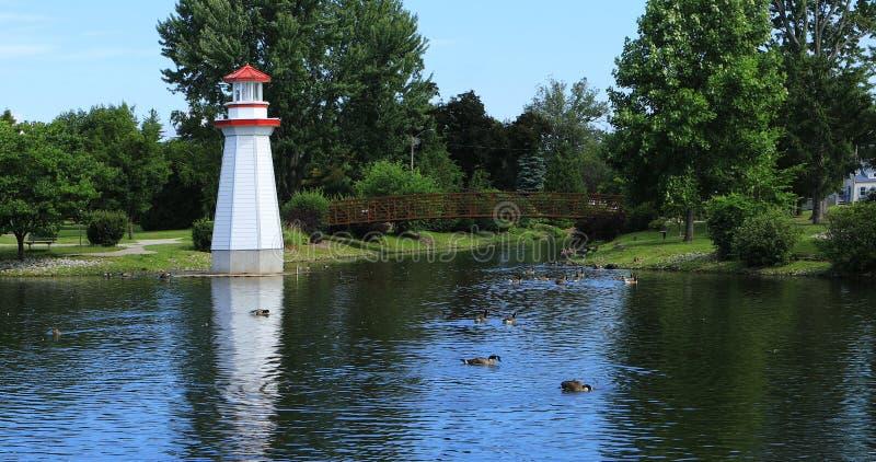 Wellington Park dans Simcoe, Canada photographie stock libre de droits