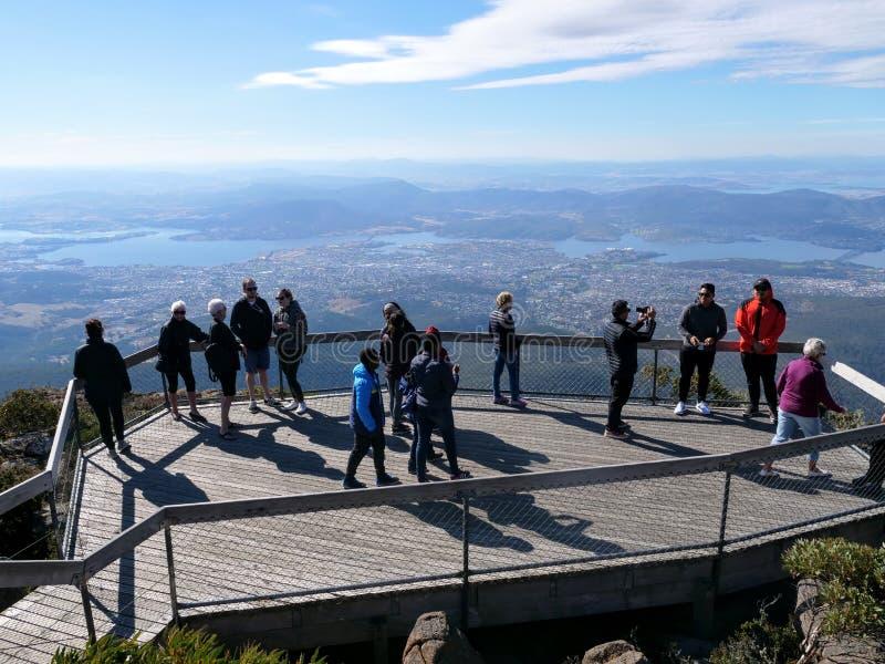 Wellington Park Tasmania Lookout Wooden Platform stock image