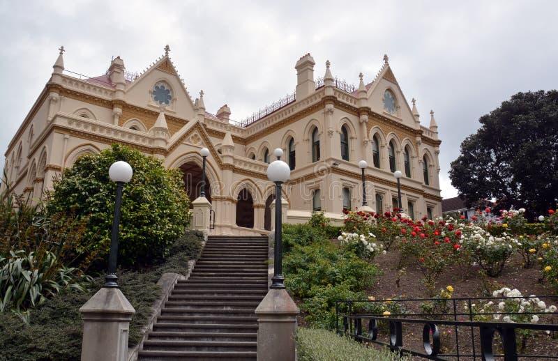 Wellington Parliamentary Library Building, Nieuw Zeeland stock afbeeldingen