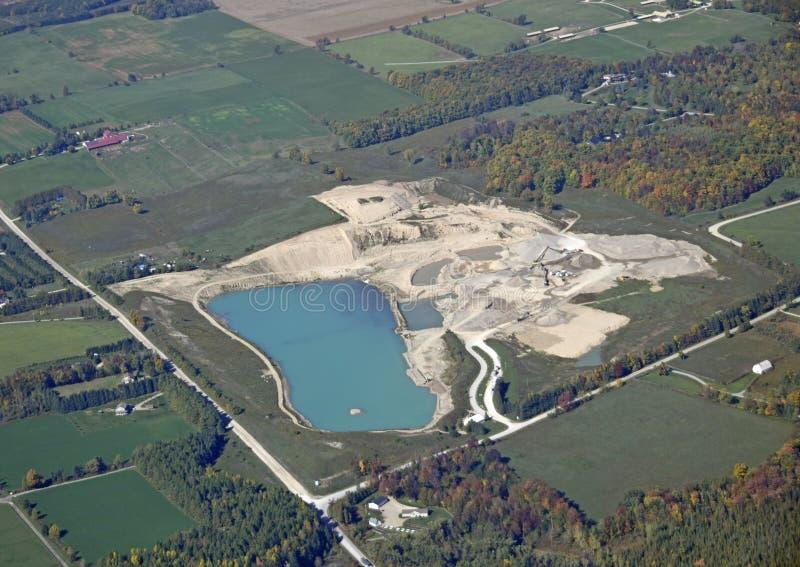 Wellington Quarry, aerial stock image