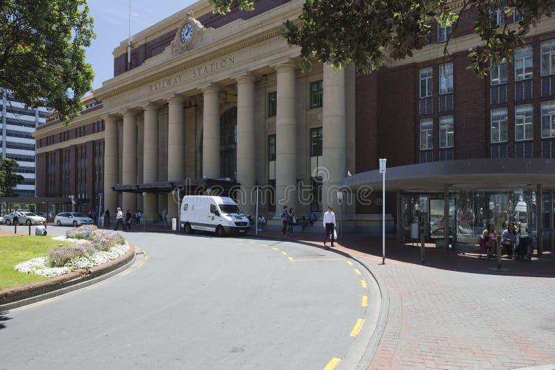 Wellington Railway Station New Zealand stock foto's