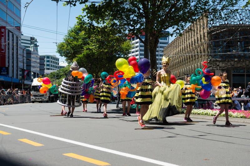 Wellington Santa Parade 2015, Nuova Zelanda fotografia stock libera da diritti