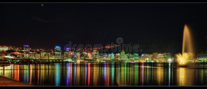 Wellington Skyline fotografie stock