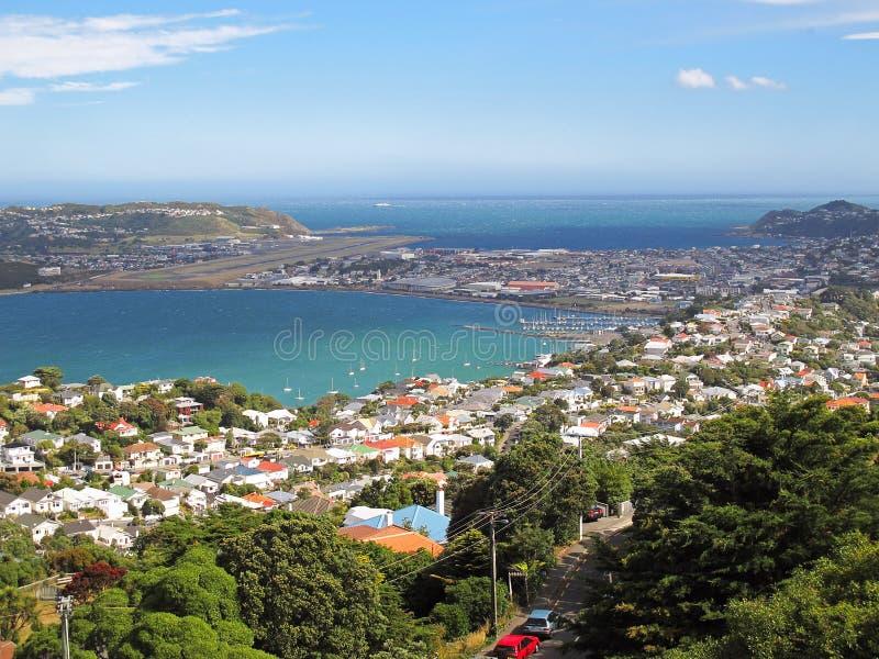 Wellington widok z lotu ptaka - Nowa Zelandia obrazy stock