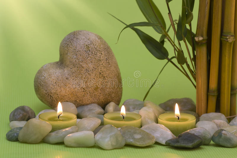 wellness καρδιών κεριών στοκ φωτογραφία με δικαίωμα ελεύθερης χρήσης