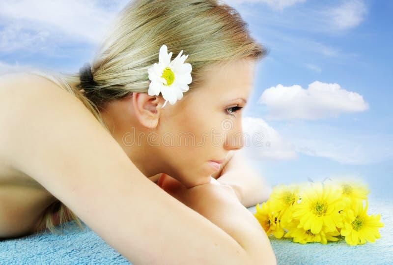 wellness πορτρέτου ομορφιάς στοκ φωτογραφία με δικαίωμα ελεύθερης χρήσης