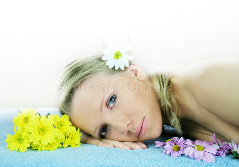Download Wellness beauty portrait stock image. Image of flowery - 1882209