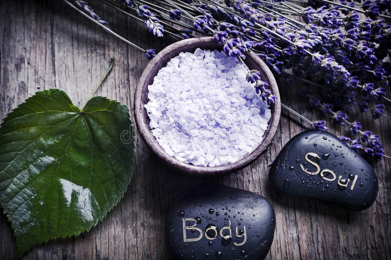 Wellness of body and soul stock photos