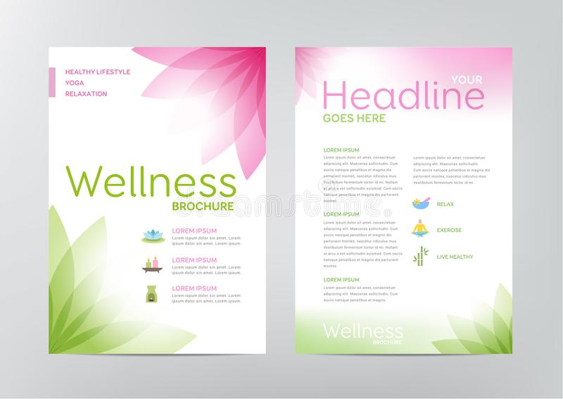 Wellness Brochure Layout Template Stock Vector Illustration Of