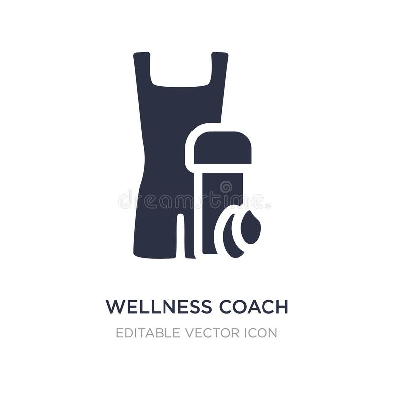 wellness coach icon on white background. Simple element illustration from Fashion concept royalty free illustration