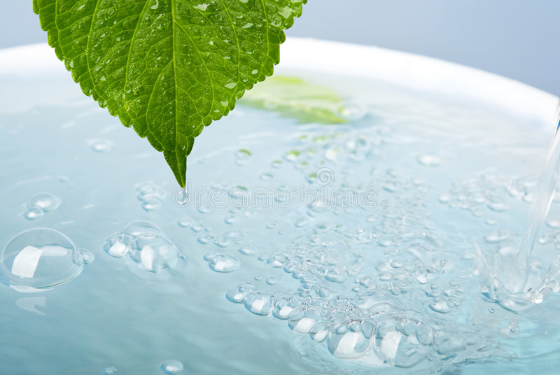 Wellness Concept With Leaf And Bath Royalty Free Stock Photo