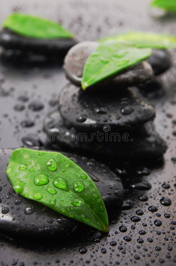 Wellness concept with zen stone royalty free stock photos