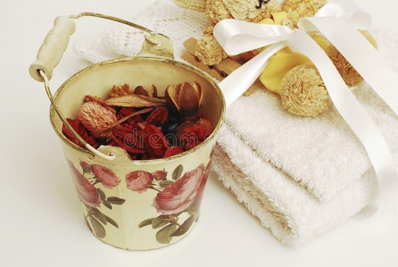 Wellness de toalhas dos termas foto de stock royalty free