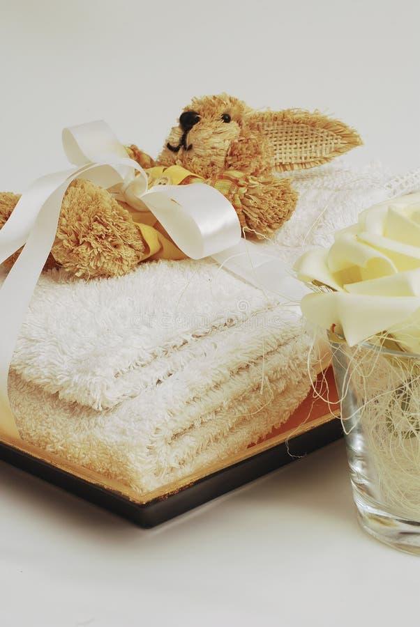 Wellness de toalhas dos TERMAS fotos de stock royalty free
