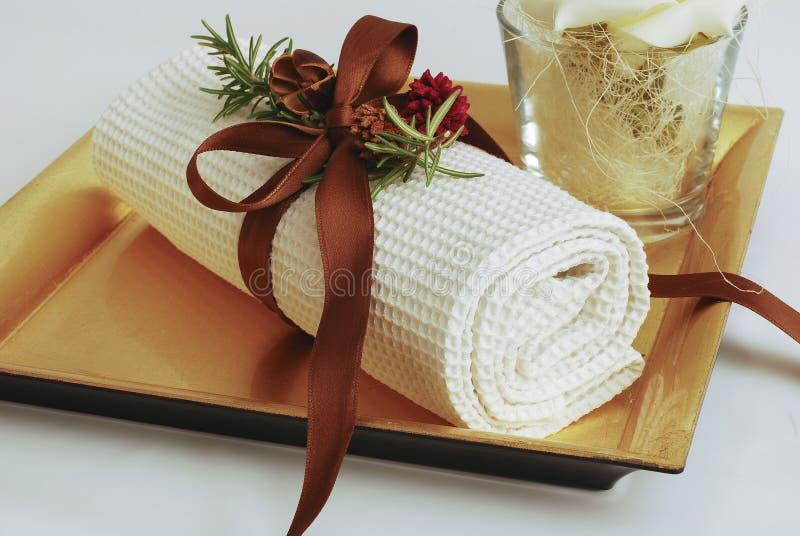 Wellness de toalhas dos TERMAS imagem de stock