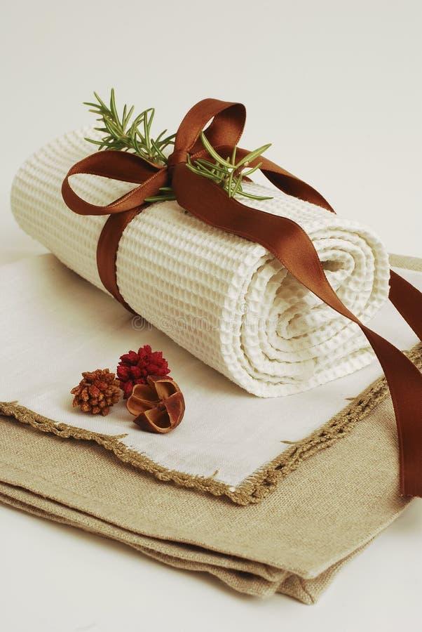 Wellness de toalhas dos TERMAS fotos de stock