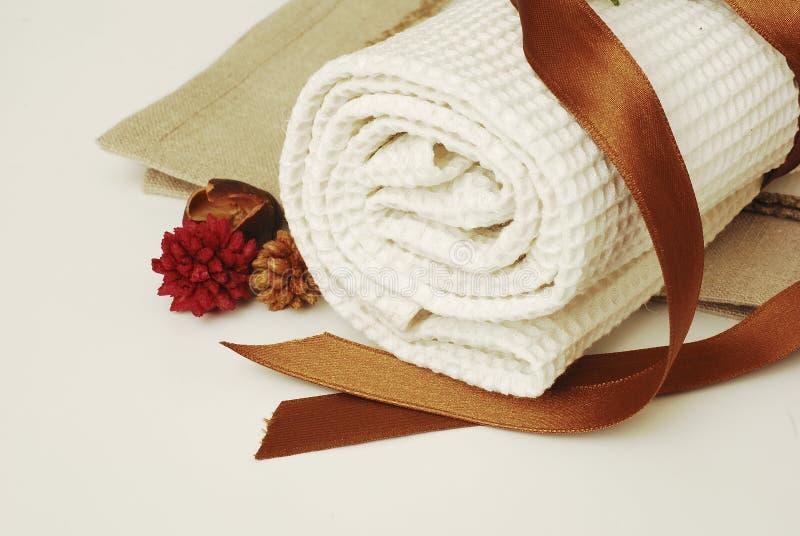 Wellness de toalhas dos TERMAS foto de stock