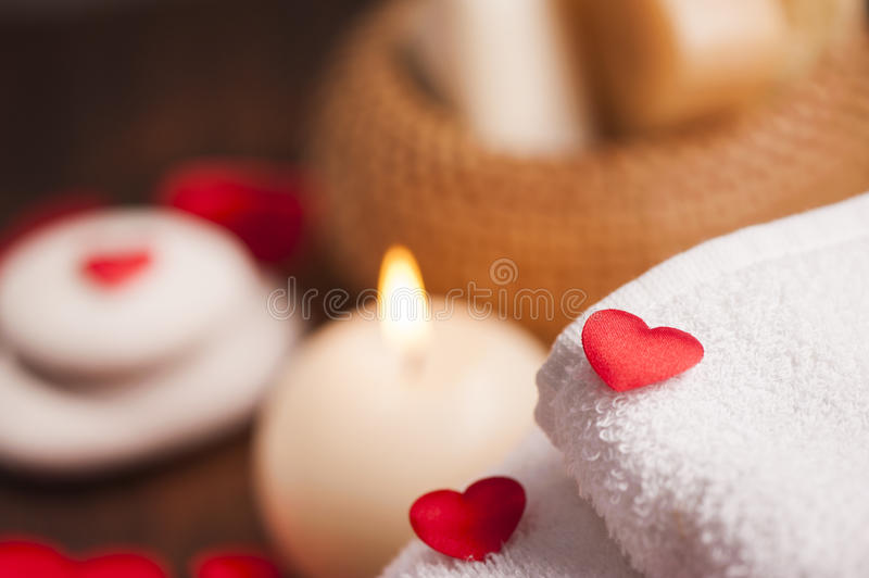 Download Wellness Decoration. Valentine`s Day Stock Photo - Image: 83723056