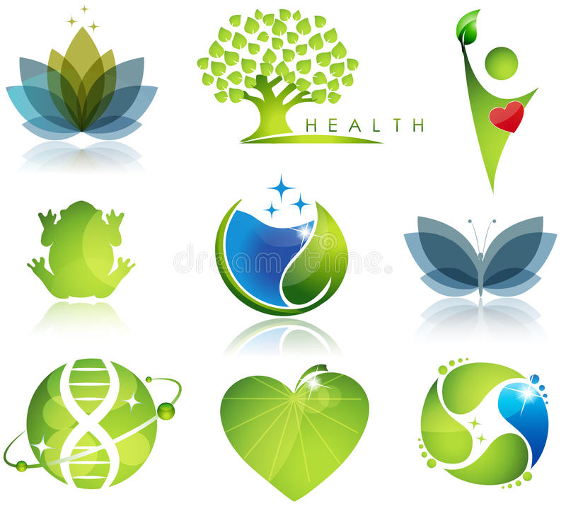 Wellness and ecology stock illustration