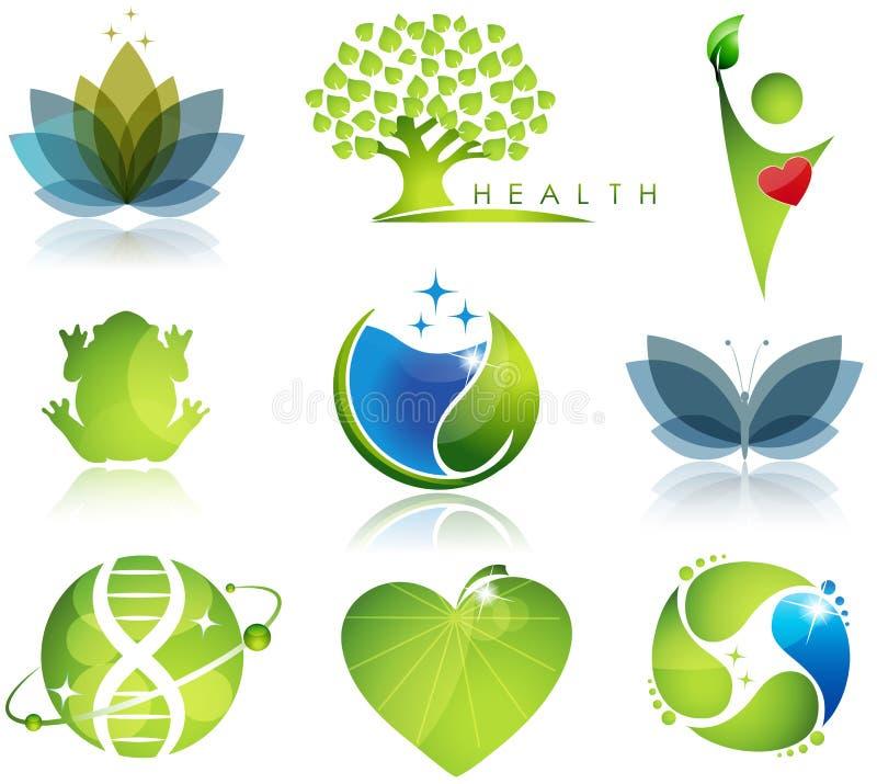 Wellness en ecologie stock illustratie