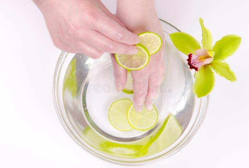 Wellness für Hände stockfotos