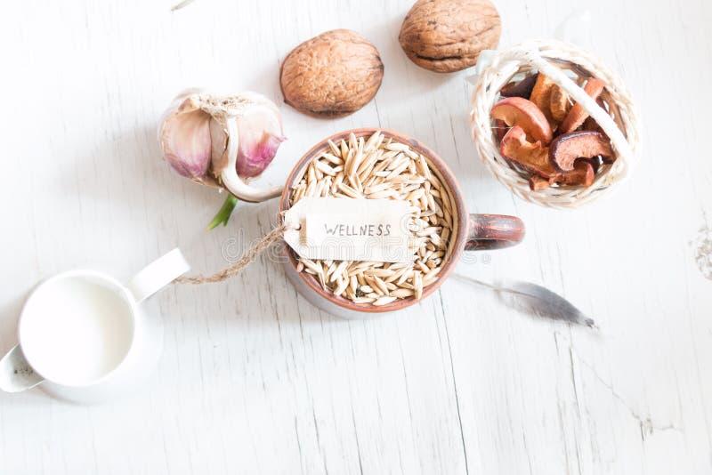 Wellness, gezond voedsel royalty-vrije stock afbeelding