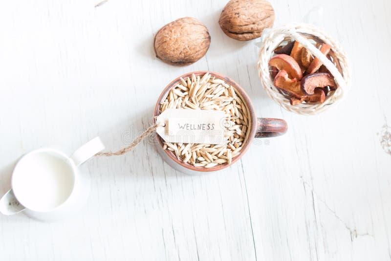 Wellness, gezond voedsel stock fotografie