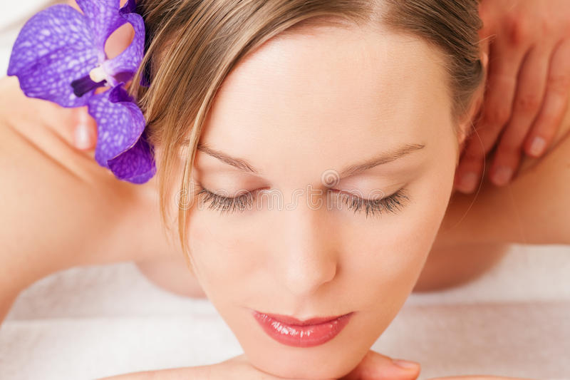 Download Wellness Girl Having Massage In Spa Stock Image - Image: 16716473